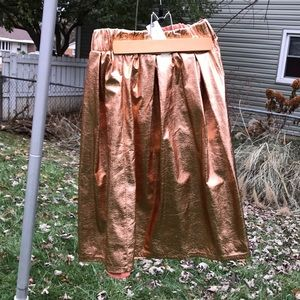 Metallic pink/gold skirt